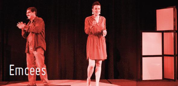 TEDxSanAntonio 2014 Emcees Victor Landa and Molly Cox