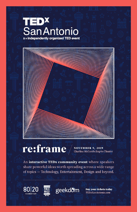TEDxSA 2019 Fall Main Event Poster